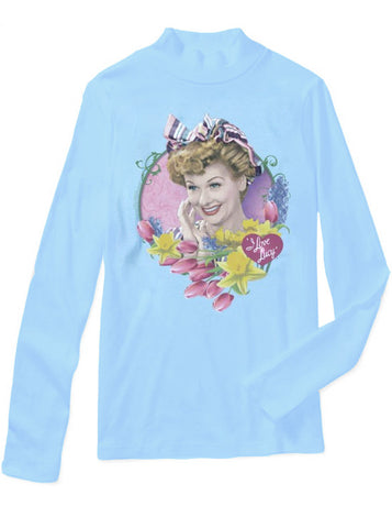 I Love Lucy Tulips Mockneck Sweater