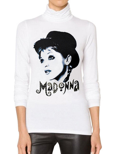 Madonna Retro 1980s Material Girl Turtleneck Sweater - IDILVICE Clothing