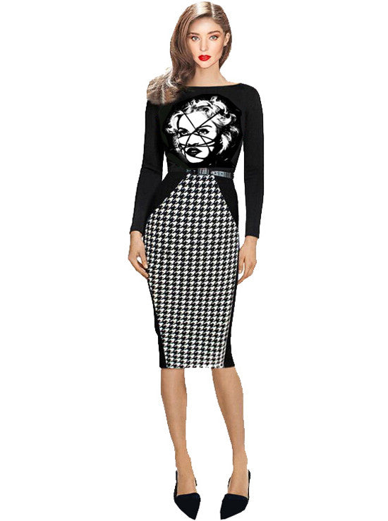 Bodycon Madonna Bondage Long Sleeve Dress - IDILVICE Clothing