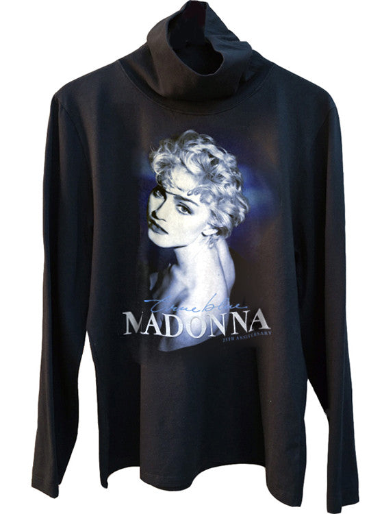 Madonna True Blue Turtleneck Sweater - IDILVICE Clothing