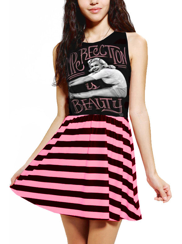 Marilyn Monroe Imperfection Is Beauty Mini Dress - IDILVICE Clothing