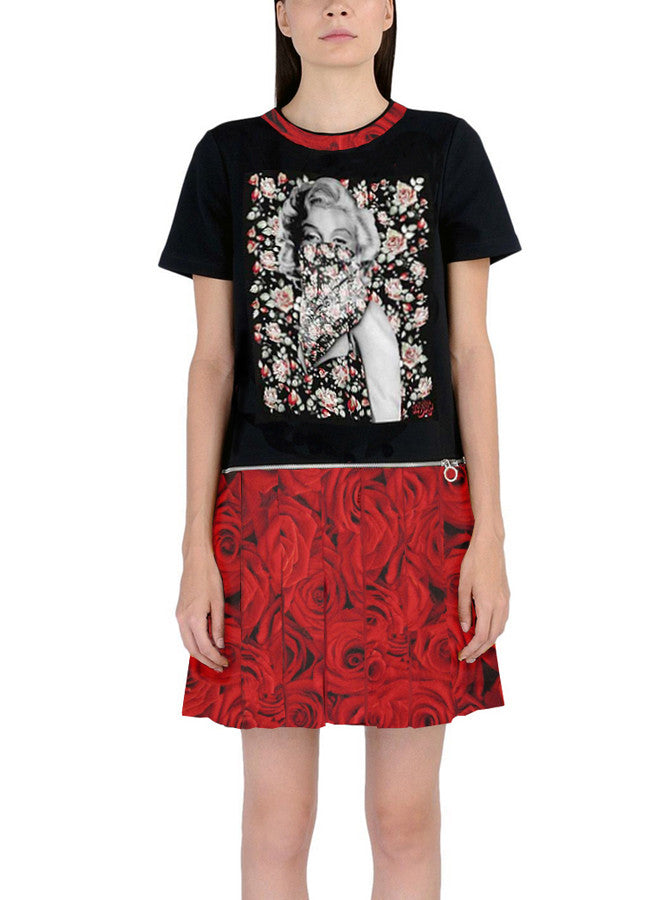 Women's Marilyn Monroe Flowers Dress W/ Zipper Turns Into T-Shirt - IDILVICE Clothing - 1