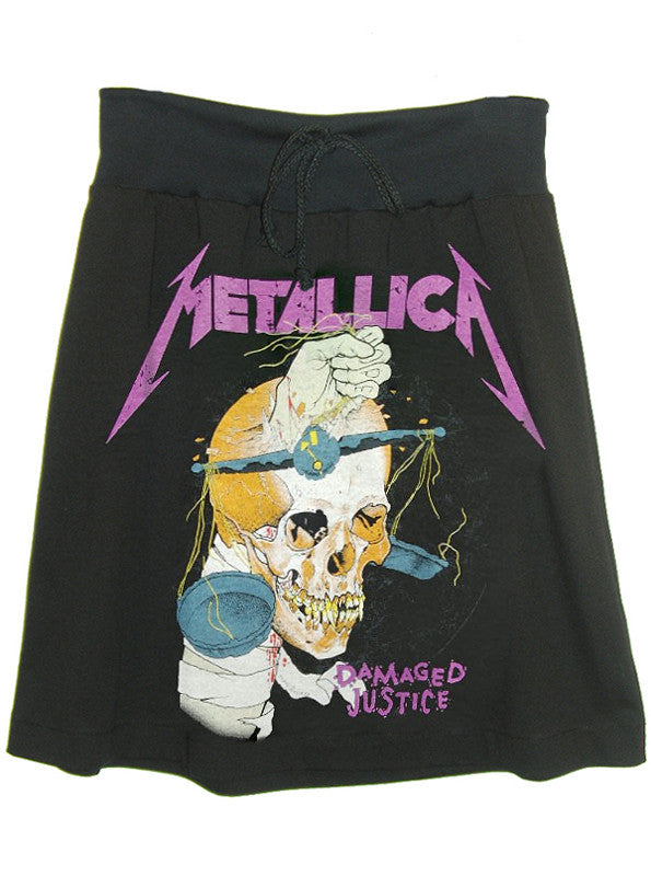 Metallica Heavy Metal Screen Print T-Shirt Skirt