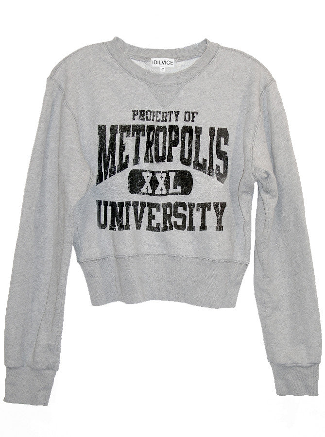 Metropolis University Superman Cropped Sweatshirt - IDILVICE Clothing