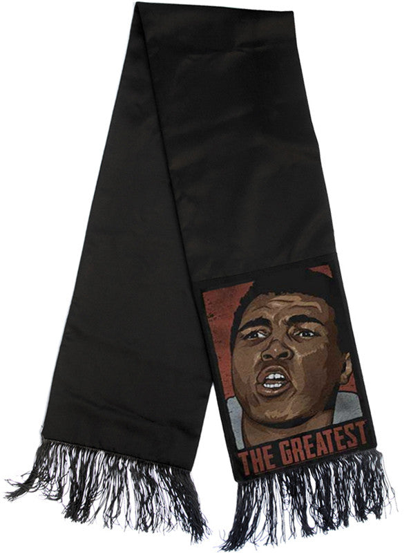 Ali The Greatest Pop Art Portrait Fringe Scarf - IDILVICE Clothing