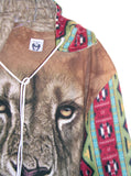 Navajo Lion Fleece Oversize Hooded Sweatshirt - IDILVICE Clothing - 3