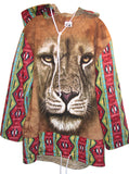 Navajo Lion Fleece Oversize Hooded Sweatshirt - IDILVICE Clothing - 1