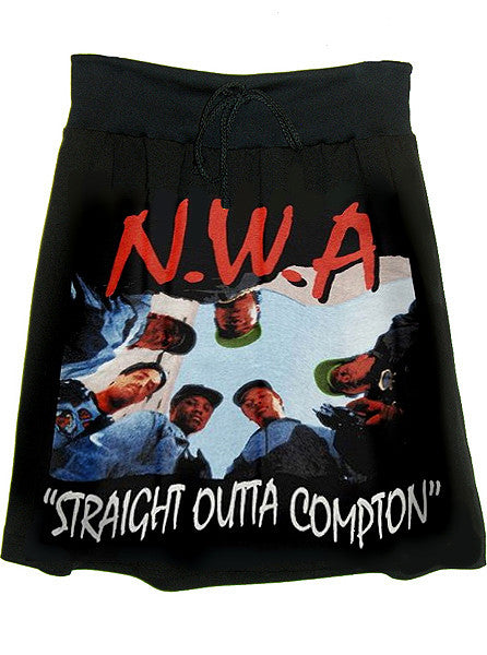 N.W.A. Straight Outta Compton Photo Print T-Shirt Skirt - IDILVICE Clothing