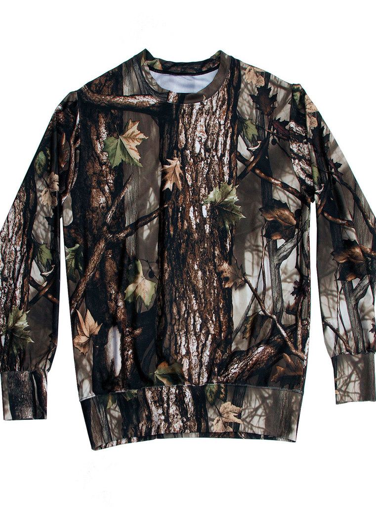 Oak Wood Forest Photo Print Sweater Top - IDILVICE Clothing - 1