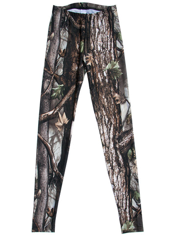 Oak Wood Forest Photo Print Leggings