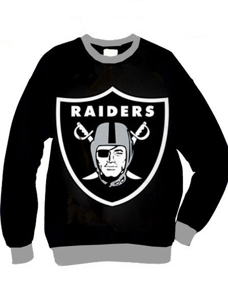 Oakland Raiders Shield Organic French Terry Two Tone Sweatshirt - IDILVICE Clothing