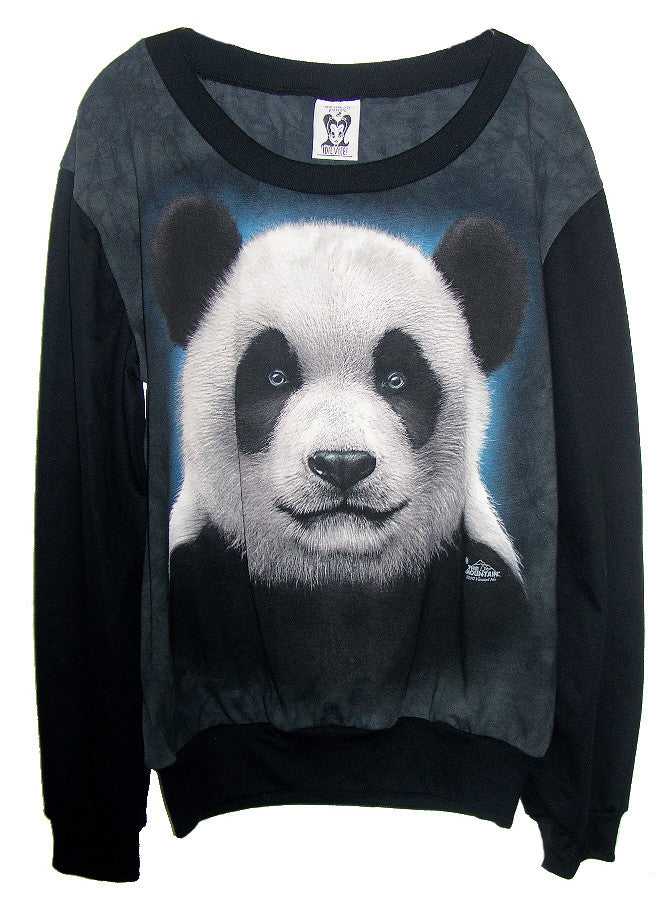 Panda Bear Slouchy Jumper - IDILVICE Clothing