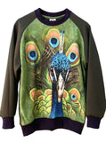 Peacock Print Sweatshirt Top - IDILVICE Clothing - 2