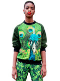 Peacock Print Sweatshirt Top - IDILVICE Clothing - 1