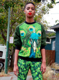 Peacock Print Sweatshirt Top - IDILVICE Clothing - 5