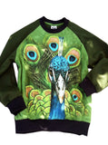 Peacock Print Sweatshirt Top - IDILVICE Clothing - 4