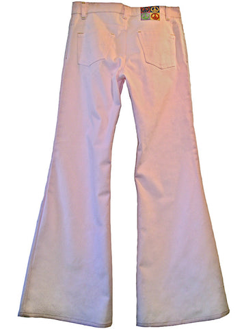 Light Pink Cotton Canvas Flare Pants