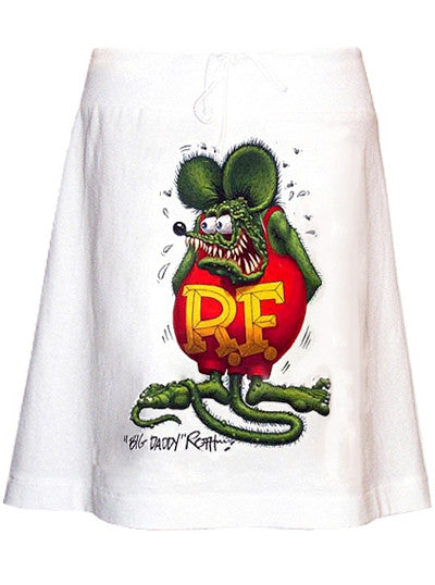 Rat Fink Ed Roth T-Shirt A-Line Skirt - IDILVICE Clothing