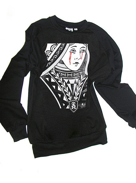 Crying Queen Of Hearts Sweatshirt - IDILVICE Clothing