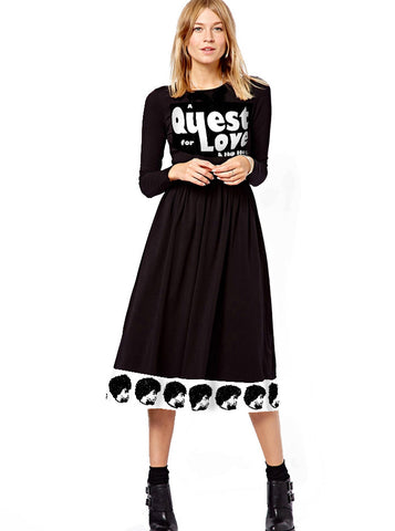 A Quest For Love & Hip Hop Cotton Midi Skater Dress