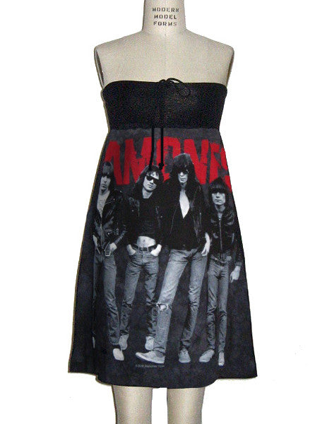 The Ramones Punk Group Photo Tie Dye T-S Tube Dress - IDILVICE Clothing