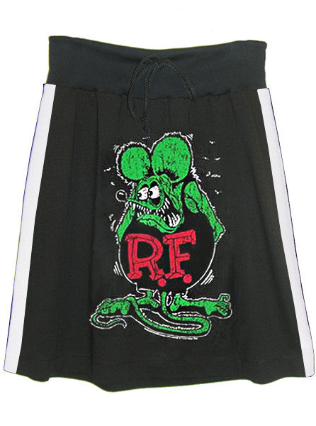 Rat Fink Ed Roth Racer Stripe T-Shirt A-Line Skirt - IDILVICE Clothing