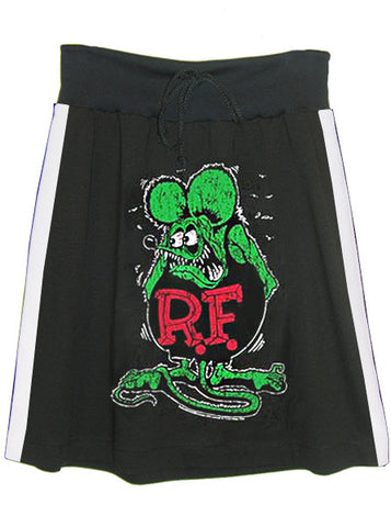 Rat Fink Ed Roth Racer Stripe T-Shirt Sweat Skirt