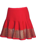 Mesh Panel Ruffled Sweat Skirt - IDILVICE Clothing - 1