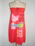Woodstock Poster Strapless Tube Dress - IDILVICE Clothing - 2