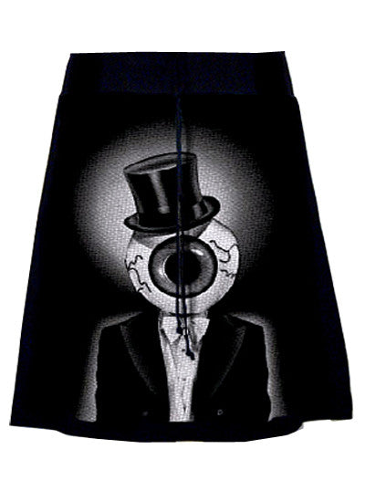 The Residents Eyeball Tuxedo T-Shirt Skirt - IDILVICE Clothing