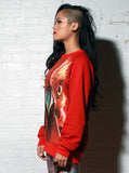 Red Rooster Face Sweatshirt Top - IDILVICE Clothing - 2