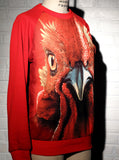 Red Rooster Face Sweatshirt Top - IDILVICE Clothing - 3