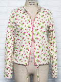 Tiny Rose Printed Sweatshirt Cardigan Jacket - IDILVICE Clothing - 2