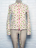 Tiny Rose Printed Sweatshirt Cardigan Jacket - IDILVICE Clothing - 4
