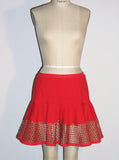 Mesh Panel Ruffled Sweat Skirt - IDILVICE Clothing - 4