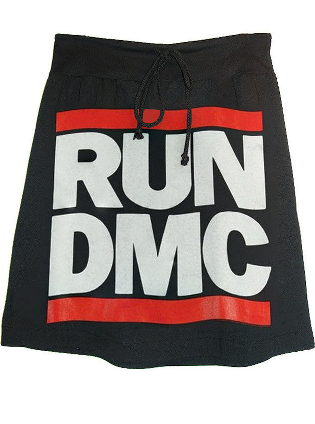 RUN DMC Logo Hip Hop Printed T-Shirt Skirt - IDILVICE Clothing - 1