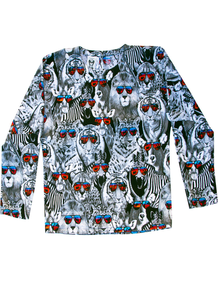 Cool Safari Animals Cotton L/S Top - IDILVICE Clothing - 3
