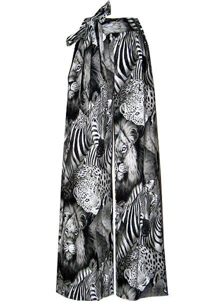 Safari Exotic Animals Printed Slack Pants - IDILVICE Clothing - 1