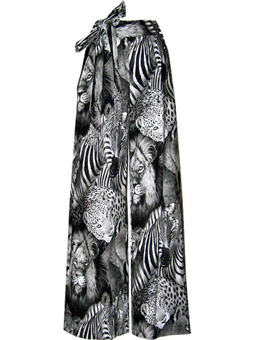 Safari Exotic Animals Printed Slack Pants