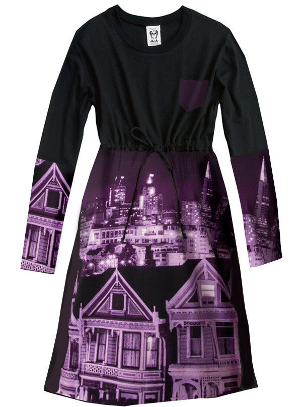 San Francisco California Photo T-Shirt Dress - IDILVICE Clothing