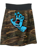 Santa Cruz Speed Wheels Camo Hand T-Shirt Skirt - IDILVICE Clothing - 1