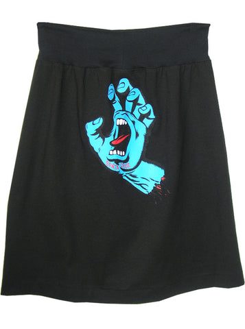 Santa Cruz Speed Wheels Screaming Hand T-Shirt Skirt
