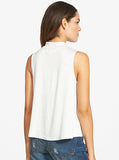 Basic Instinct Sharon Stone Sleevless Mock Neck T-Shirt Top - IDILVICE Clothing - 2