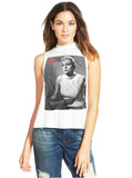 Basic Instinct Sharon Stone Sleevless Mock Neck T-Shirt Top - IDILVICE Clothing - 1