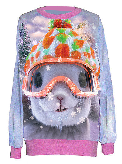 Snow Bunny Christmas Sweater - IDILVICE Clothing - 1