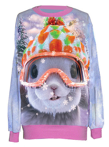 Snow Bunny Christmas Sweater
