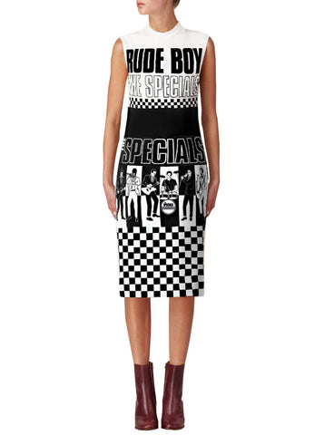 The Specials SKA Check Mock Neck T-Shirt Dress