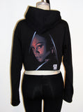 Uhura Star Trek Organic Cotton Cropped Hoodie Zip Jacket - IDILVICE Clothing - 2