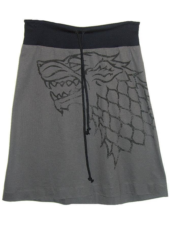 Stark Sigil Winter Is Coming Game Of Thrones Aline Drawstring Skirt - IDILVICE Clothing
