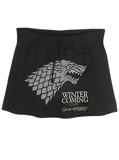 Stark Sigil Winter Is Coming Game Of Thrones Drawstring Mini Skirt - IDILVICE Clothing
